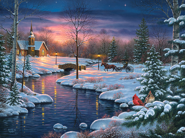 Holy night abraham hunter for Christmas images paintings