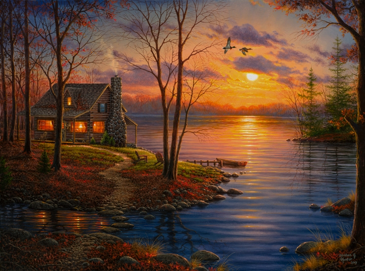 Sunset Cove by Abraham Hunter » Infinity Fine Art