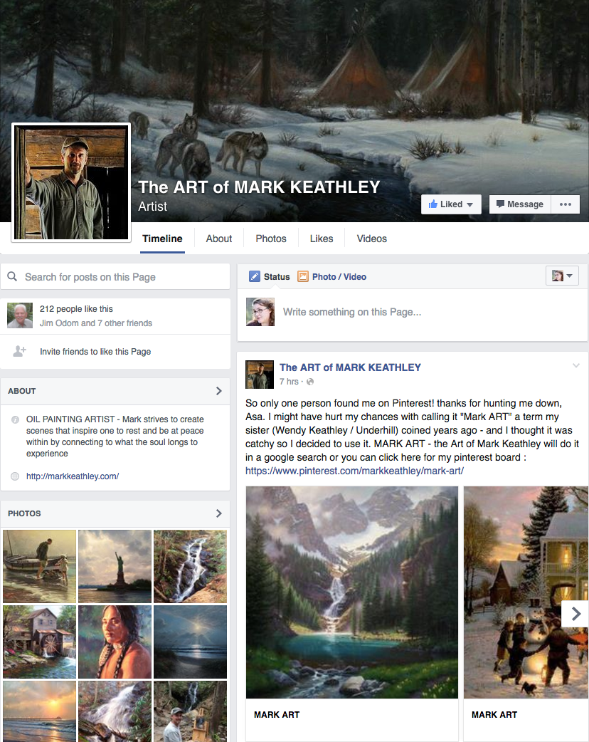 Mark Keathley Art Facebook