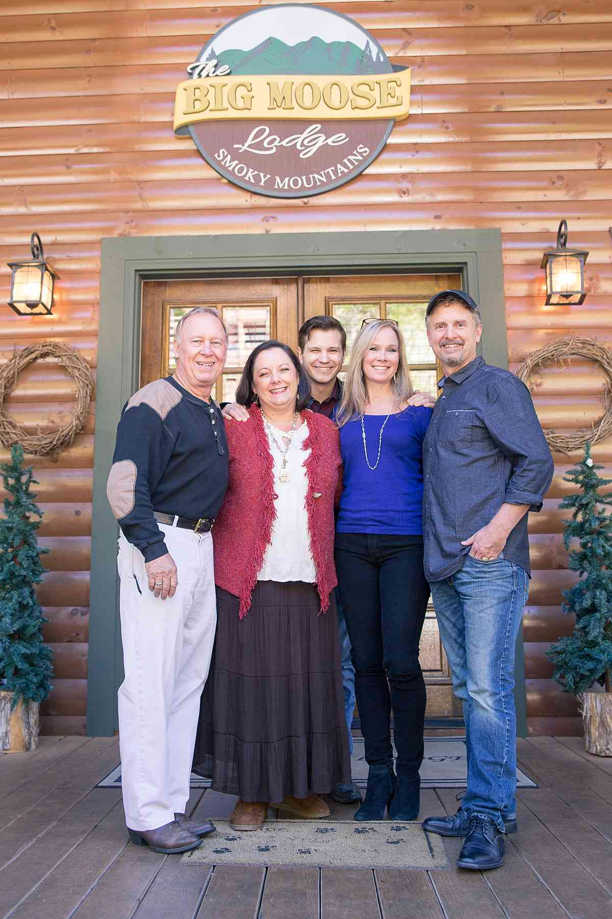 Jim and Denise with two of the artists they carry Abraham Hunter and Mark Keathley along with Mark