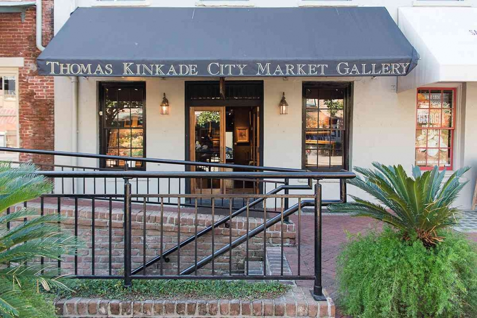 The outside of the Thomas Kinkade Gallery in Savannah.